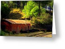 Train Shed Greeting Card