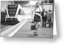 Train Station - Waiting Greeting Card