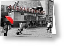 Train Station Alexanderplatz Greeting Card
