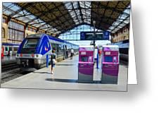 Train Station Marseille France Greeting Card