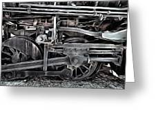 Train - The Wheels Are Turning  Greeting Card