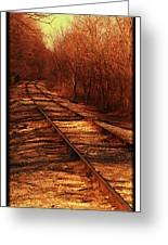 Train Track North Greeting Card
