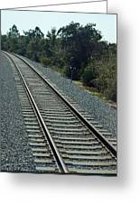 Train Tracks Greeting Card