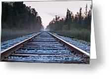 Train Tracks To Nowhere Greeting Card
