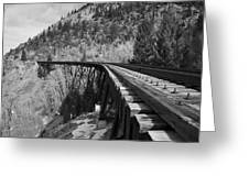 Train Trestle 1 Greeting Card