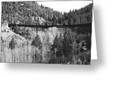 Train Trestle 4 Greeting Card
