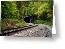 Train Tunnel Greeting Card