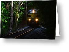 Rails Through The Wilderness Greeting Card