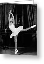 Training Young Ballerina. Greeting Card