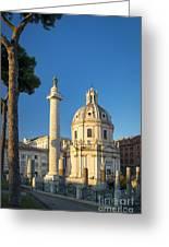 Trajans Column - Rome Greeting Card