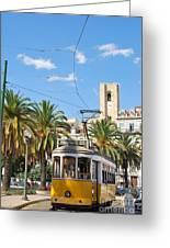 Tram In Lisbon Greeting Card