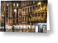 Tram Night Greeting Card