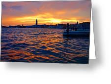 Tramonto Veneziano Greeting Card