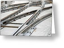 Tramway Track Construction Greeting Card