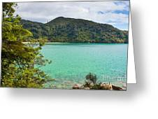 Tranquil Bay In Abel Tasman Np In New Zealand Greeting Card