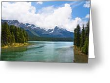 Tranquil Lake In The Canadian Rockies Greeting Card