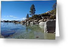 Tranquil Tahoe Beach Greeting Card