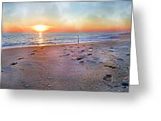 Tranquility Beach Greeting Card by Betsy Knapp