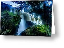 Tranquility Falls Greeting Card