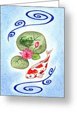 Tranquility Greeting Card by Keiko Katsuta