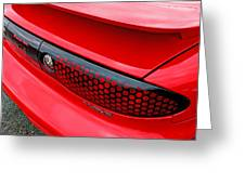 Trans Am Rear Lights Greeting Card