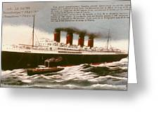 Transatlantic Liner, 1912 Greeting Card