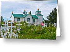 Transfiguration Of Our Lord Russian Orthodox Church In Ninilchik-ak Greeting Card