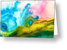 Transformation - Abstract Art By Sharon Cummings Greeting Card by Sharon Cummings
