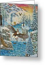 Transformation Of The Eagles Greeting Card