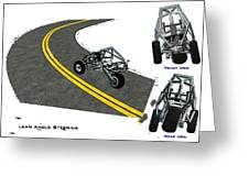 Transformer Transporter Motorcycle Turn Greeting Card