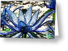 Translucent Blues Greeting Card