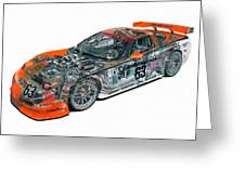 Transparent Car Concept Made In 3d Graphics 10  Greeting Card