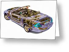 Transparent Car Concept Made In 3d Graphics 6 Greeting Card