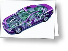 Transparent Car Concept Made In 3d Graphics 8 Greeting Card