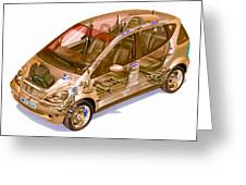 Transparent Car Concept Made In 3d Graphics 9 Greeting Card