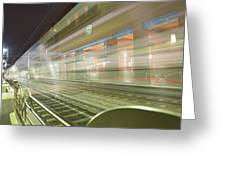 Transparent Trains Greeting Card