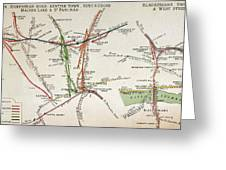 Transport Map Of London Greeting Card