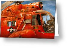Transportation - Helicopter - Coast Guard Helicopter Greeting Card