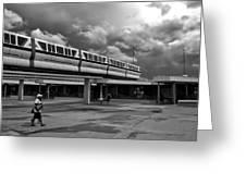 Transportation Station In Black And White Walt Disney World Greeting Card
