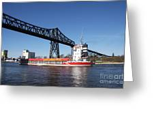 Transporter Bridge Over Canal Rendsburg Greeting Card