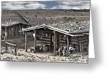 Trapper Dan's Log Cabins Greeting Card