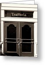 Trattoria Door Palm Springs Greeting Card