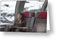Travel In Train Greeting Card