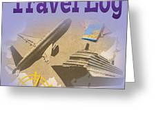 Travel Log Greeting Card