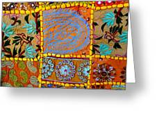 Travel Shopping Colorful Tapestry 9 India Rajasthan Greeting Card