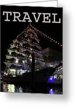 Travel Tall Sailing Ship Work Two Greeting Card