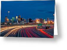 Traveling Into Denver Greeting Card