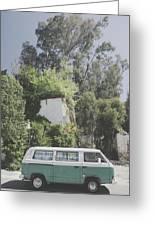 Travelling Vintage Wander Wolkswagen.  Greeting Card