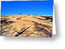 Traversing The Rock Greeting Card