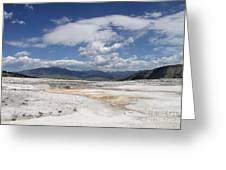 Travertine Hill Of Mammoth Hot Springs  Greeting Card